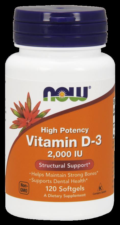 Витамин D3  2000МЕ 120 капсул
